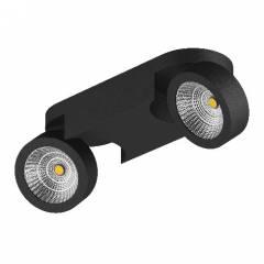 Светильник SNODO LED 2*10W 1960LM 100x262 мм 23G ЧЕРНЫЙ IP20