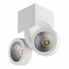 Светильник SNODO LED 2*10W 1960LM 100x105 мм 23G БЕЛЫЙ IP20