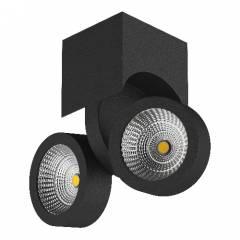 Светильник SNODO LED 2*10W 1960LM 105x160 мм23G ЧЕРНЫЙ IP20