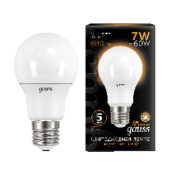 Лампа Gauss LED A60 E27 7W 2700K
