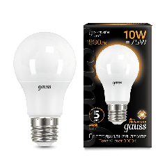 Лампа Gauss LED A60 10W E27 3000K
