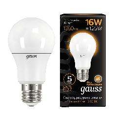 Лампа Gauss LED A60 16W E27 3000K