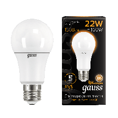Лампа Gauss LED A70 22W E27 3000K