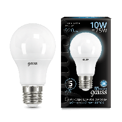 Лампа Gauss LED A60 10W E27 4100K