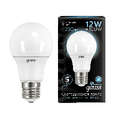 Лампа Gauss LED A60 globe 12W E27 4100K