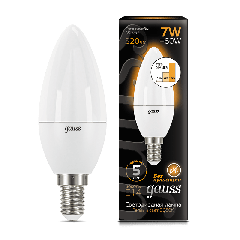 Лампа Gauss LED Candle E14 7W 3000К step dimmable