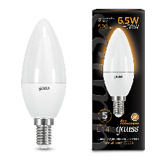 Лампа Gauss LED Candle E14 6.5W 2700К