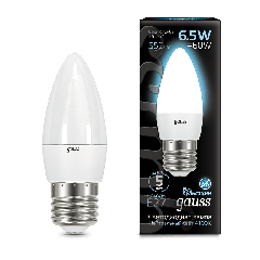 Лампа Gauss LED Candle E27 6.5W 4100К