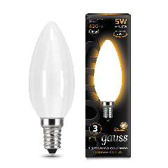 Лампа Gauss LED Filament Candle OPAL E14 5W 2700К
