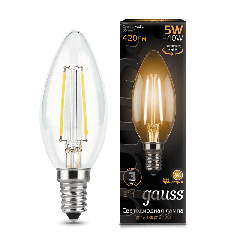 Лампа Gauss LED Filament Candle E14 5W 2700К