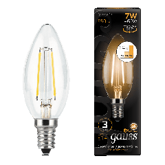 Лампа Gauss LED Filament Candle E14 7W 2700К step dimmable