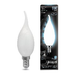 Лампа Gauss LED Filament Candle Tailed OPAL E14 5W 4100К
