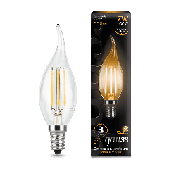 Лампа Gauss LED Filament Candle tailed E14 7W 2700К