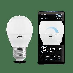 Лампа Gauss LED Globe-dim E27 7W 4100К диммируемая