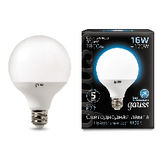 Лампа Gauss LED G95 E27 16W 4100K