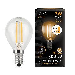 Лампа Gauss LED Filament Globe E14 7W 2700K step dimmable