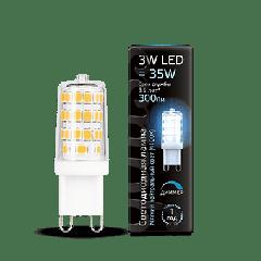 Лампа Gauss LED G9 AC185-265V 3W 4100K диммируемая
