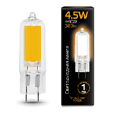 Лампа Gauss LED G4 AC220-240V 4.5W 3000K Glass