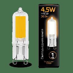 Лампа Gauss LED G9 AC220-240V 4.5W 3000K Glass