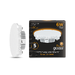 Лампа Gauss LED GX53 6W 3000K