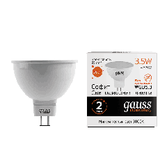 Лампа Gauss LED Elementary MR16 GU5.3 3.5W 3000K