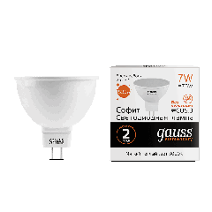 Лампа Gauss LED Elementary MR16 GU5.3 7W 3000K