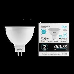 Лампа Gauss LED Elementary MR16 GU5.3 9W 4100K