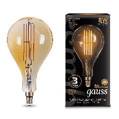 Лампа Gauss LED Vintage Filament A160 8W E27 160*300mm Golden 2400K