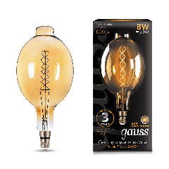 Лампа Gauss LED Vintage Filament Flexible BT180 8W E27 180*360mm Golden 2400K