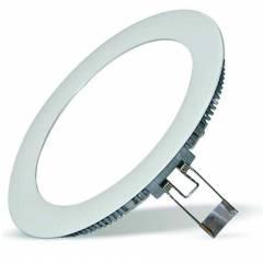 Светодиодный светильник Downlight FL-LED PANEL-R18 3000K D=224мм h=20мм d=205мм 18Вт 1620Лм