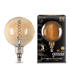 Лампа Gauss LED Vintage Filament Flexible G200 8W E27 200*300mm Golden 2400K