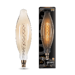 Лампа Gauss Led Vintage Filament Flexible BT120 8W E27 120*420mm Golden 2400K