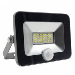 Светодиодный прожектор FL-LED Light-PAD SENSOR 10W Grey 4200К 850Лм 10Вт 140x169x28мм  - С датчиком