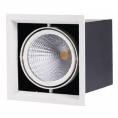 Светодиодный карданный светильник FL-LED Grille-111-1 195*195*170мм 30Вт 2400Лм