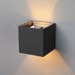 Уличный настенный светодиодный светильник Winner 1548 6Вт черный