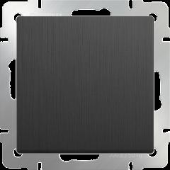 Выключатель одноклавишный проходной (графит рифленый) WL04-SW-1G-2W