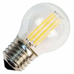 Светодиодная лампа FL-LED Filament G45 7.5W E27 3000К 220V 750Лм 45*75ммшарик прозрачная