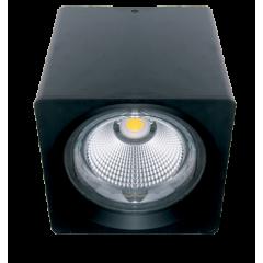 Светодиодный светильник FL-LED CUPSPOT Quad 30W Black 4000K 3000Lm квадратный 30Вт 160*165мм