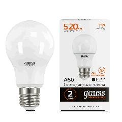 Лампа Gauss LED Elementary A60 7W E27 3000K
