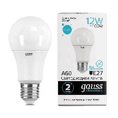 Лампа Gauss LED Elementary A60 12W E27 4100K