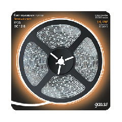 Лента LED 5050/60-SMD 14.4W  12V DC теплый белый IP66 (блистер 5м)