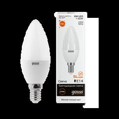 Лампа Gauss LED Elementary Candle 6W E14 3000K