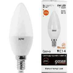 Лампа Gauss LED Elementary Candle 8W E14 3000K