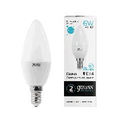 Лампа Gauss LED Elementary Candle 6W E14 4100K