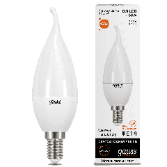 Лампа Gauss LED Elementary Candle Tailed 6W E14 3000K