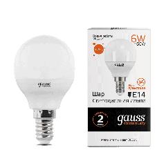 Лампа Gauss LED Elementary Globe 6W E14 3000K