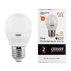 Лампа Gauss LED Elementary Globe 6W E27 3000K