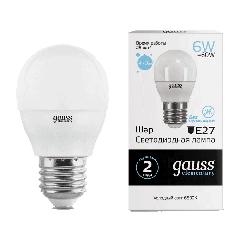 Лампа Gauss LED Elementary Globe 6W E27 6500K