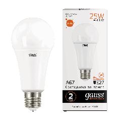 Лампа Gauss LED Elementary A67 25W E27 3000K
