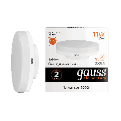 Лампа Gauss LED Elementary GX53 11W 3000K